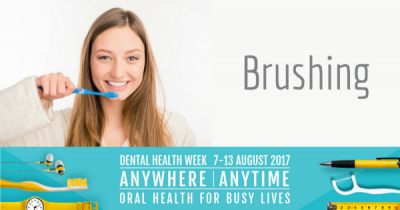 Brushing - Dental Health Week 2017
